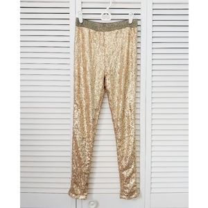 3 for $19! 🔥 gold sequin, sparkly pants